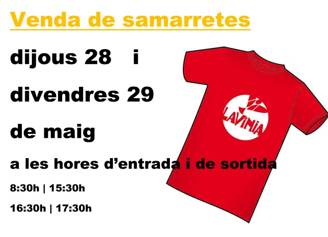 cartell venda samarretes